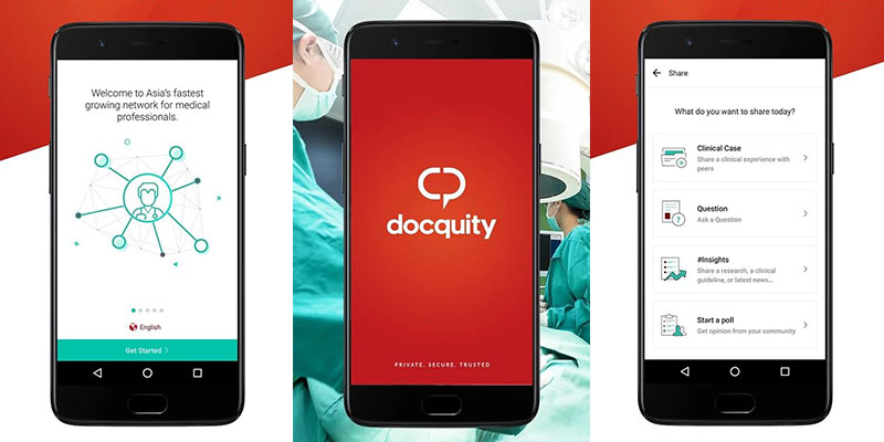 Docquity mobile app