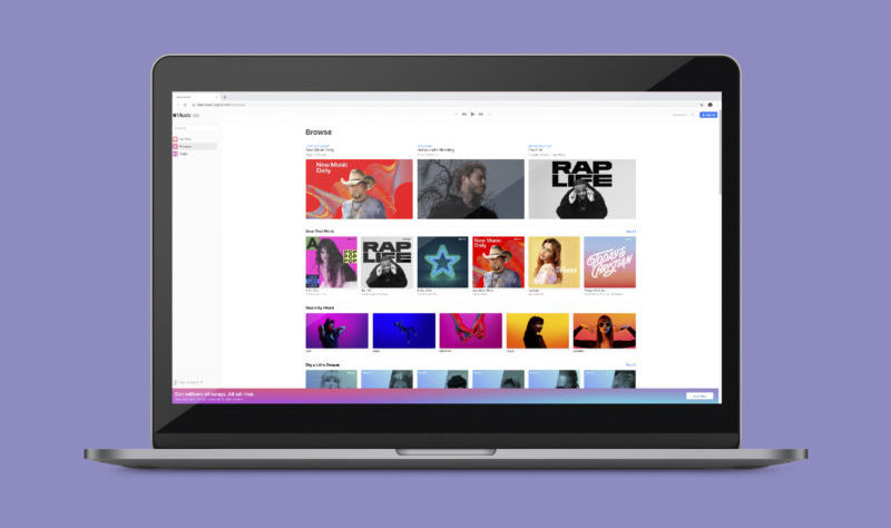 apple music for web
