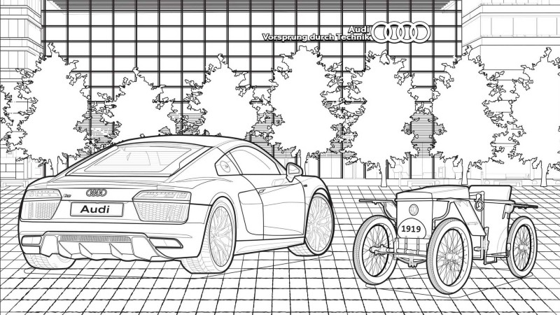 Big-Ears with his new Car coloring page | Free Printable Coloring ... | 450x800